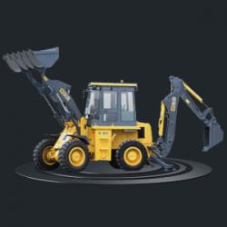 Экскаватор-погрузчик XCMG XT860